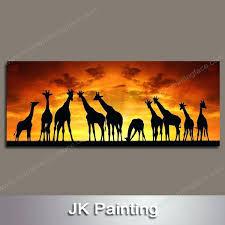 giraffe paintings on canvas giraffe paintings on canvas modern artistic of deer group from art giraffe paintings on canvas