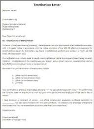 termination letter template termination letter format free word templates