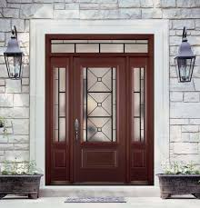 belleville mahogany textured 1 panel hollister door 3 4 lite with quattro glasstraditional exterior tampa masonite steel and fiberglass entry systems