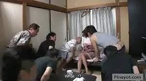 Japanese Wife Gangbang Home