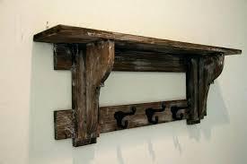 primitive coat rack rustic wall shelf hat ideas zoom plans timber