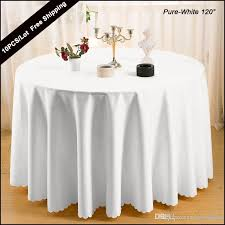 2016 polyester plain white 120 round modern table cover cloth for wedding marriage party table cloth cover of round squard table tablecloth round table
