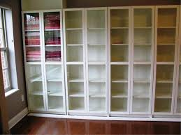 billy bookcase with glass doors with metal bookcase