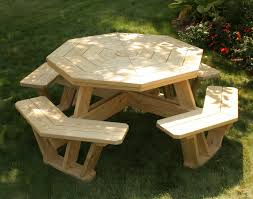 round picnic table ideas