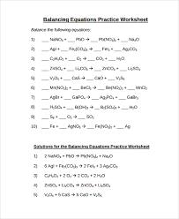 balancing chemical equations worksheet example atoms