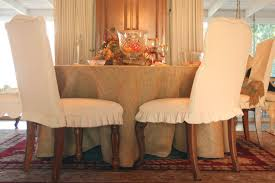 shabby chic dining chair slipcover