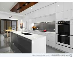 Interesting Modern White Kitchen Design Kitchens Ideas I 3722167971 Throughout Decorating