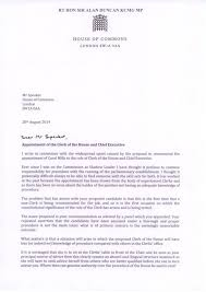 Letter Of Recommendation For Office Clerk Sir Alan Duncan Mp The Roles Of Clerk And Chief Executive