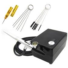 <b>Mini</b> AirBrush Compressor Set <b>Nail Art</b> Cake 12v <b>Air</b> Brush Gun 0.4 ...