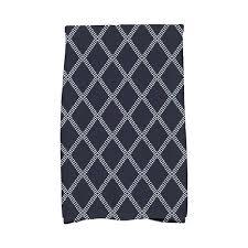 navy blue diamond dots holiday geometric print kitchen towel