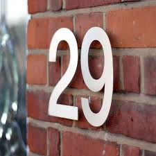 large modern stainless steel house numbers home decorating