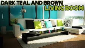 Teal And Green Living Room Daily Decor Dark Teal And Brown Living Room Youtube