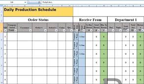 Production Scheduling In Excel Daily Production Schedule Template Excel Schedule