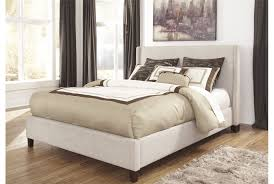 Living Spaces Bedroom Furniture Hillary California King Upholstered Panel Bed Warm Sleep And Beds