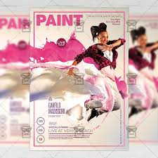 Paint Net Templates Paint Party Flyer Club A5 Template