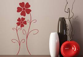 Small Picture Flower Design Wall Sticker Beautiful stylized Floral Decor