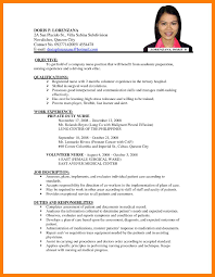 6 Sample Resume For Nurses Self Introduce