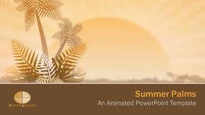 Summer Powerpoint Templates Summer Palms A Powerpoint Template From Presentermedia Com