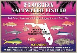 Florida Saltwater Fishing Regulations Chart Sw Fish Id 9749091574 Florida Saltwater Fish Id 10th Edition
