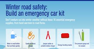 Winter Road Safety Build An Emergency Car Kit Infographic