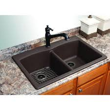 Granite Undermount Kitchen Sinks Franke Dual Mount Composite Granite 33x22x9 1 Hole Double Basin