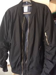 hm divided mens er jacket black gold new size m bargain