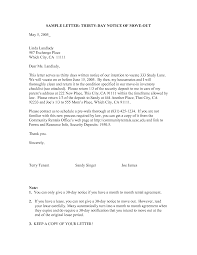 30 day notice to move out letter sample 30 day notice letter