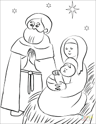 Nativity Story Coloring Pages Printable Free Nativity Coloring Pages