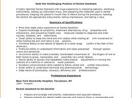 Dental Assistant Resume Examples With No Experience Dental Assistant