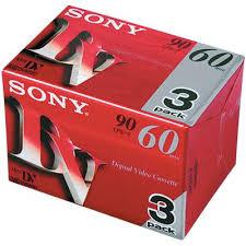 sony 85100. sony 3dvm60rx 60 min mini dv tape (3-pack) 85100