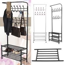 Coat And Bag Rack Metal Hat Coat Stand Clothes Shoes Rack Umbrella Bag Steel Stand 26