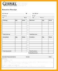 Goodwill Receipt Form Goodwill Donation Worksheet Elegant Tax