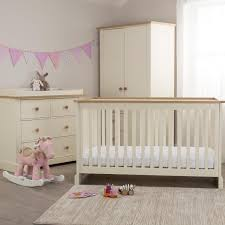 pink baby furniture. little acorns ava roomset cot bed with dresser and wardrobe sticker pink baby furniture