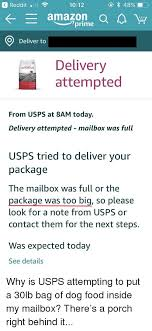 Reddit 1012 Deliver To Delivery Attempted Naturals From Usps At 8am