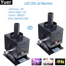 <b>2Pcs</b>/<b>Lot Stage Effect</b> DJ Equipment LED CO2 Jet Machine For Bar ...