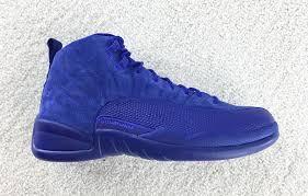 jordan shoes 12. air jordan 12 royal blue suede shoes