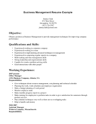 Business Management Resume Objective Business Resume Objective For Management Enom Warb Co 5a8639dbaad6b
