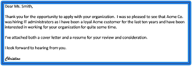 Emailing Resume And Cover Letter Message From Brief Message The
