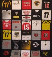 She takes your old hockey jerseys and makes a quilt-worth every ... & My favorite gift was my boys ball jersey quilt my hubby had made for me! Adamdwight.com