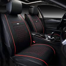 us black red car pu leather seat cover for nissan altima sentra rogue full set for