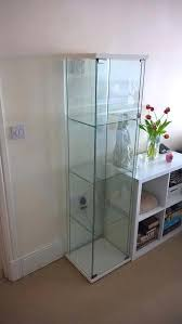 glass display case ikea glass display cabinet in white with fitted led spotlight great condition glass glass display case ikea cabinet