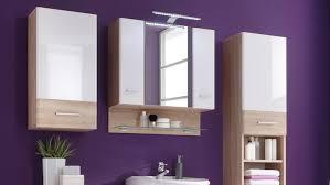 Spiegelschrank Barolo Bad Schrank Spiegel Sonoma Eiche Weiß Hochglanz