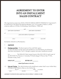Installment Sales Contracts Sales Agreement Template Cyberuse Samplereport Document Report 7