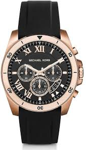 men s michael kors brecken chronograph leather band watch mk8544