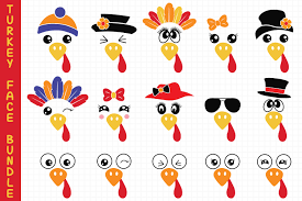 A printable pdf version of the. Turkey Faces Bundle Svg Graphic By All About Svg Creative Fabrica