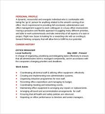 Sample Office Manager Resumes Sample Office Manager Resumes 7 Download Free Documents