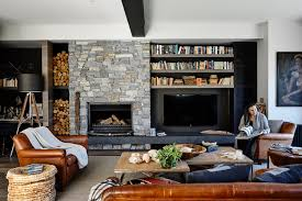indoor stone fireplace. stone fireplace indoor