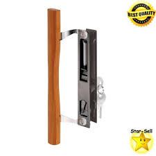 sliding glass door handle set hook style flush mount keyed patio