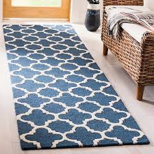 contemporary safavieh handmade moroccan cambridge navy ivory wool rug 2 6