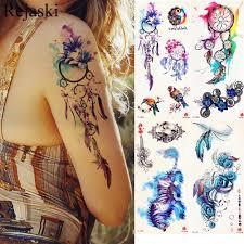 акварельная ловец снов временная татуировка женская племенное тату